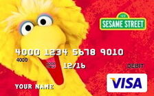 Sesame debit card 02 big bird