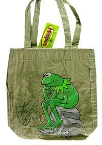 2009 disney store global design kermit tote bag