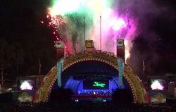 Bowl fireworks finale
