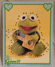 Muppet Babies Sewing Cards Kermit
