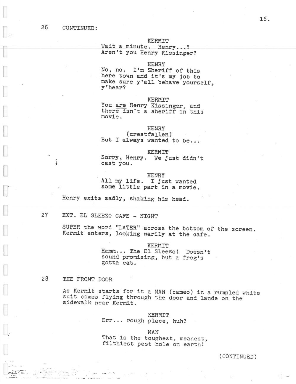 image muppet movie script 016 jpg muppet wiki fandom powered