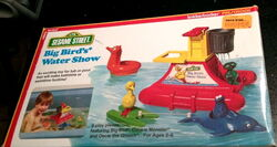 Knickerbocker 1978 big bird's water show bath toy playset 1