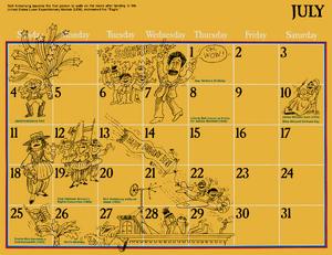 1976 sesame calendar 07 july 2