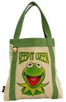 Kermit green tote bag