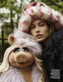 Love magazine Piggy and Hailey Baldwin