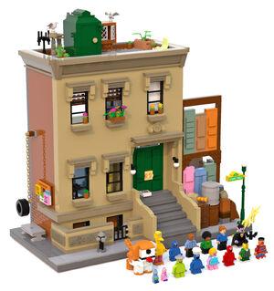 123 Sesame Lego mockup
