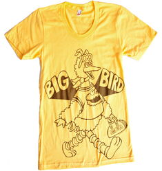 American apparel shirt big bird hero