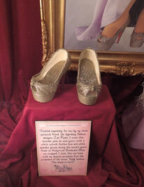 Christian shoes on display