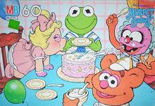 Muppet Babies puzzle Milton Bradley cake