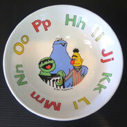 Crown lynn 1981 sesame cookie monster plate