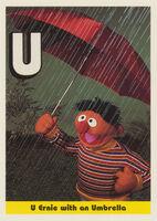 Sesamecard 037 Ernie umbrella