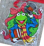 Kurt adler muppet christmas carol wreath kermit