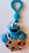 Applause zipper pull cookie monster