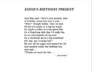 Eddie's Birthday Present