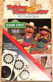 Sesame talking view-master no 2 1984 b
