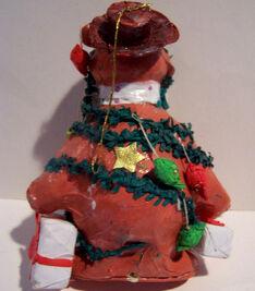 Fozzie Papier Mache ornament back