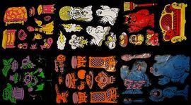 Count's Colorforms Castle vinyl pieces j