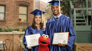 Gabi and Miles graduate
