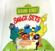 Demand marketing sesame street snack sets display