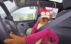 Pepe driving Toyota