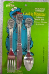 Demand marketing 1977 cookie monster utensils