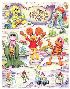 Fraggle rock stickers