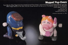 Tomy 1983 catalog muppet pop overs wind-up gonzo piggy