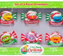 Sesame Street Christmas ornaments (Sesame Place)