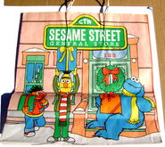 Sesame street general store christmas shopping bag ff