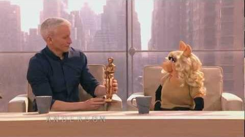 'Coopie' Presents Miss Piggy with First Anderson Award