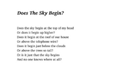 Does The Sky Begin?