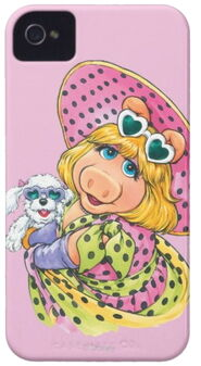 Zazzle miss piggy holding puppy