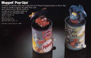Tomy 1983 catalog muppet pop-ups wind up toys animal gonzo