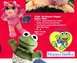 Playskool 1995 catalog muppet babies minis beanbag plush