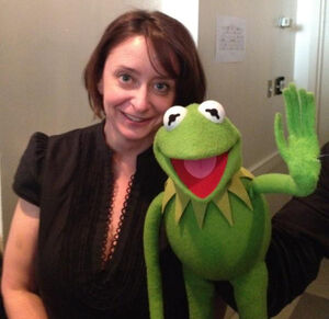 Rachel Dratch backstage