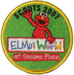 Sesame place patch scouts 2007