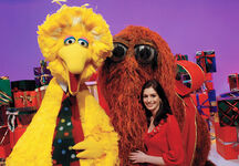 Anne Hathaway Big Bird Snuffy