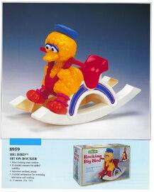 Illco 1992 baby toys rocking big bird
