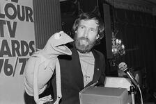 Jim Henson Kermit pendant Pye TV Awards London May 23, 1977