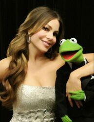 Kermit and Sofia Vergara