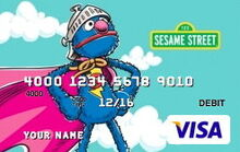 Sesame debit card 03 super grover