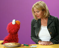 Christina Applegate and Elmo