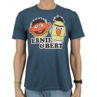 Logoshirt-Ernie&Bert-T-Shirt-blue
