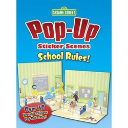 Pop up sticker scenes school rules