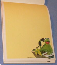 Whiting stationery 1977 kermit pad 2