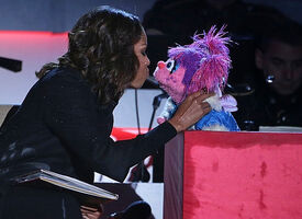 Kiss Michelle Obama Abby Cadabby