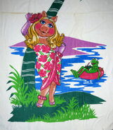 Martex 1980 piggy kermit island beach towel 2