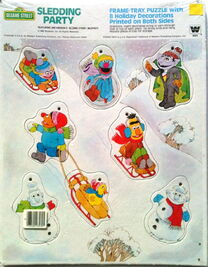 Western golden 1982 frame-tray puzzle sledding party