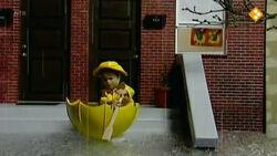 Girl sailing umbrella
