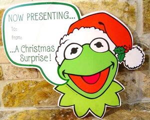 Hallmark 1981 kermit christmas gift tags